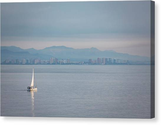 Sailing To Shore Canvas Print