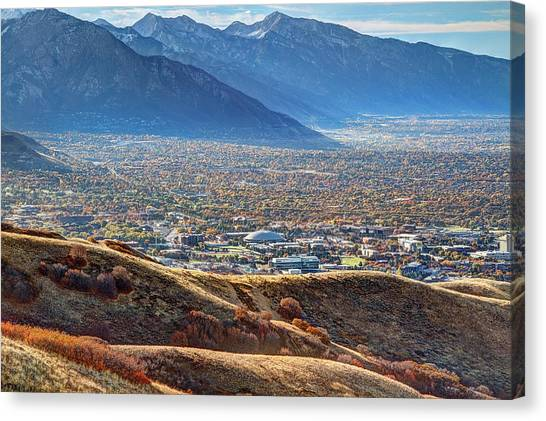 University Of Utah Canvas Print - Salt Lake Valley by Douglas Pulsipher