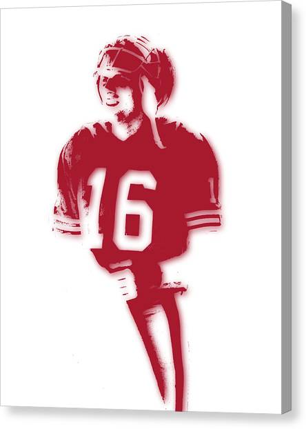 Joe Montana Canvas Print - San Francisco 49ers Joe Montana by Joe Hamilton