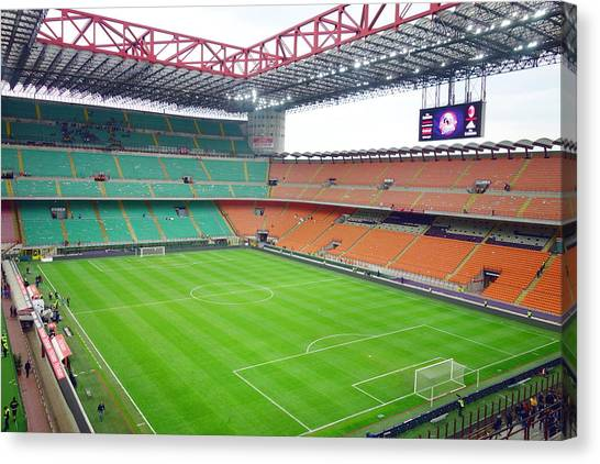Inter Milan Canvas Print - San Siro Stadium by Valentino Visentini