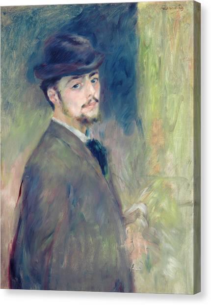 Pierre-auguste Renoir Canvas Print - Self-portrait by Pierre-Auguste Renoir
