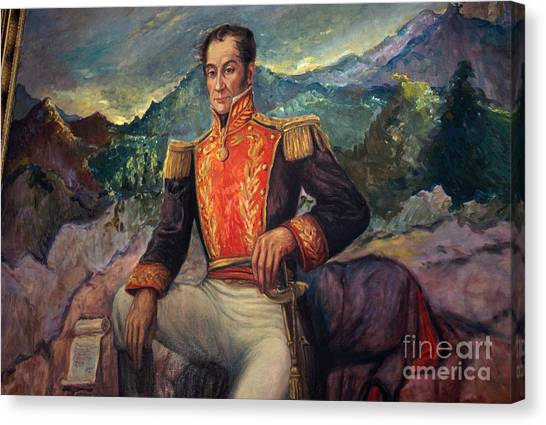 Venezuelan Canvas Print - Sim�n Bol�var, Venezuelan Political by Photo Researchers