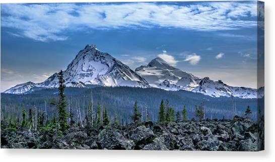 3 Sisters Of Oregon Cascades Canvas Print