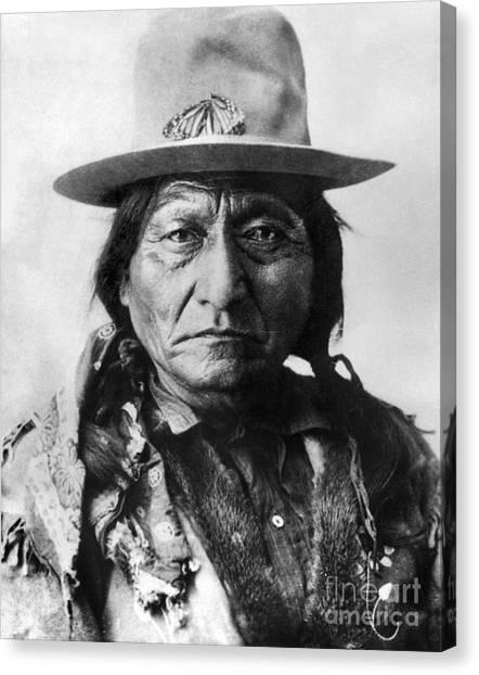 Aod Canvas Print - Sitting Bull (1834-1890) by Granger