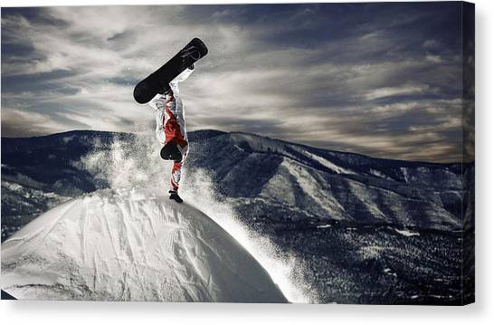 Microphones Canvas Print - Snowboarding by Jackie Russo