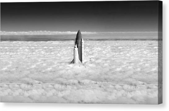 Space Ships Canvas Print - Space Shuttle by Jackie Russo