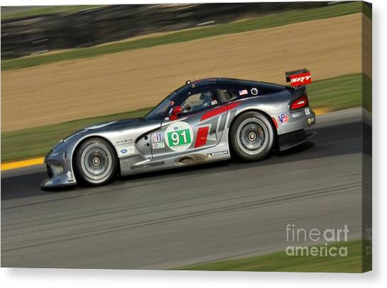 Daytona 500 Canvas Print - Srt Viper Racing by Douglas Sacha