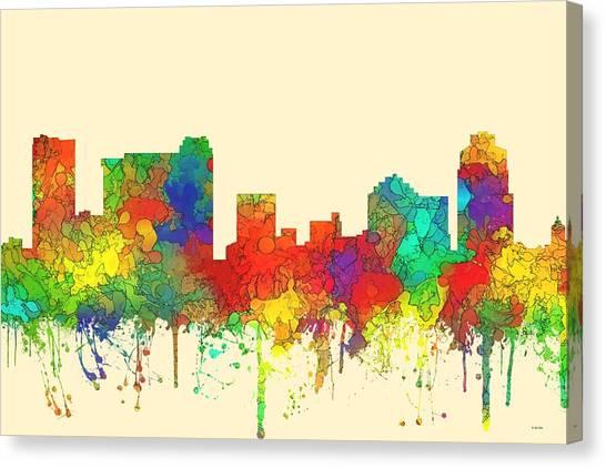 St Petersburg Florida Skyline Canvas Print