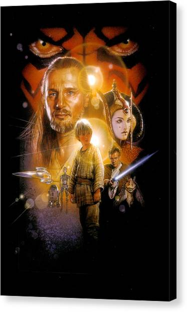 Yoda Canvas Print - Star Wars Episode I - The Phantom Menace 1999 by Geek N Rock