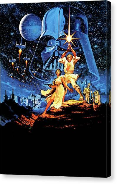 Yoda Canvas Print - Star Wars Episode Iv - A New Hope 1977 by Geek N Rock