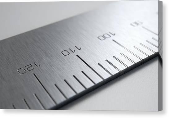 Rulers Canvas Print - Steel Ruler Closeup by Allan Swart