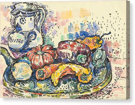 Divisionism Canvas Print - Still Life With Jug by Paul Signac