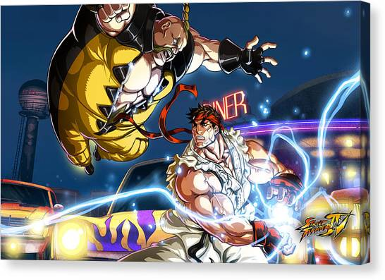 Street Fighter Canvas Print - Street Fighter by Super Lovely