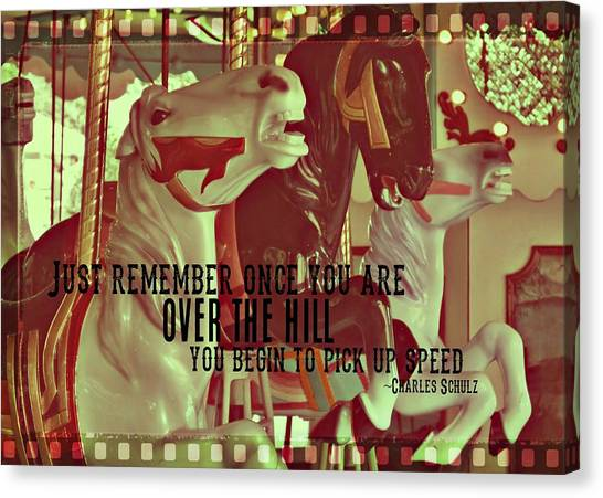 Striking Carousel Quote Canvas Print by JAMART Photography