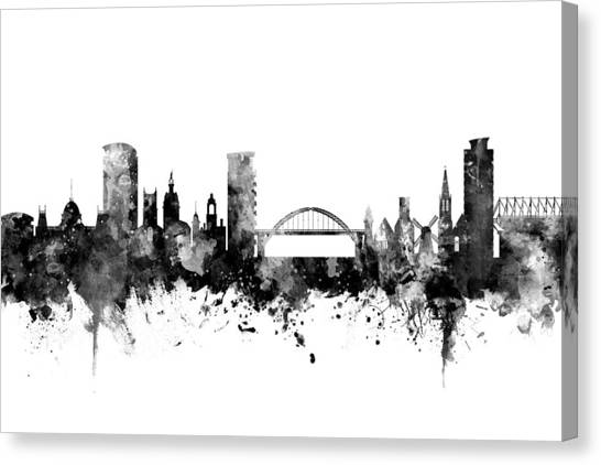Sunderland Canvas Print - Sunderland England Skyline by Michael Tompsett