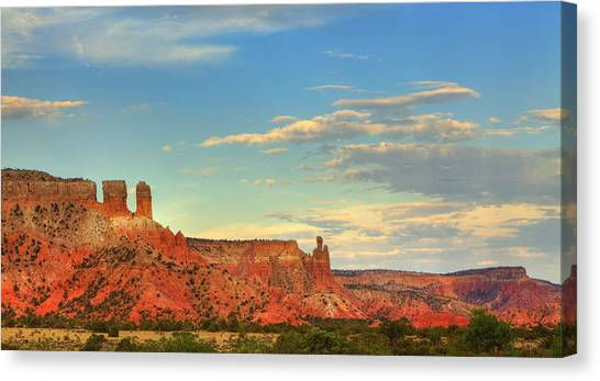 Sunset At Ghost Ranch Canvas Print