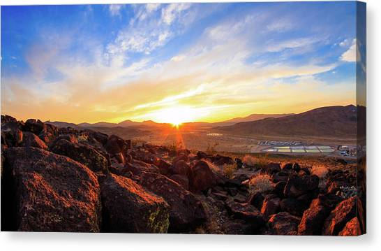 Mojave Desert Canvas Print - Sunset by Hyuntae Kim
