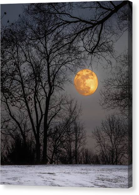 Super Blue Moon Rising Canvas Print