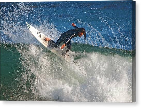 Surfer Canvas Print by Marc Bittan