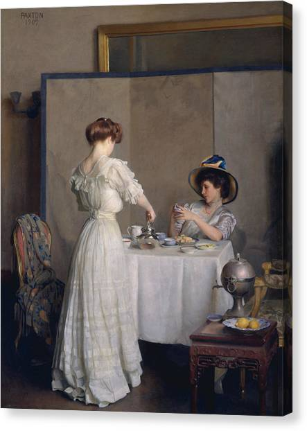 Tea Leaves Canvas Print - Tea Leaves by William McGregor Paxton