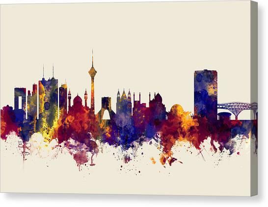Iranian Canvas Print - Tehran Iran Skyline by Michael Tompsett