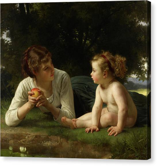 Academic Art Canvas Print - Temptation by William-Adolphe Bouguereau