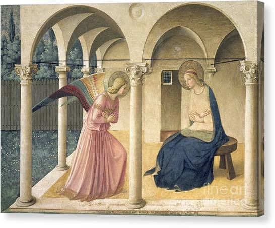 Immaculate Canvas Print - The Annunciation by Fra Angelico