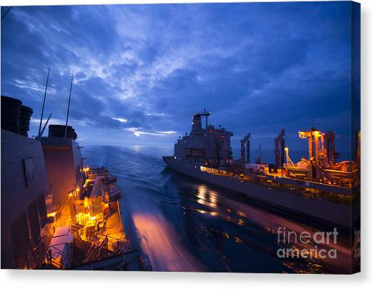 Missles Canvas Print - The Arleigh Burke-class Guided-missile Destroyer by Celestial Images