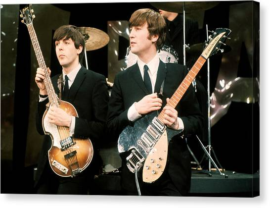 Banjos Canvas Print - The Beatles by Mariel Mcmeeking