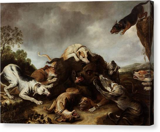 Baroque Art Canvas Print - The Boar Hunt by Frans Snyders