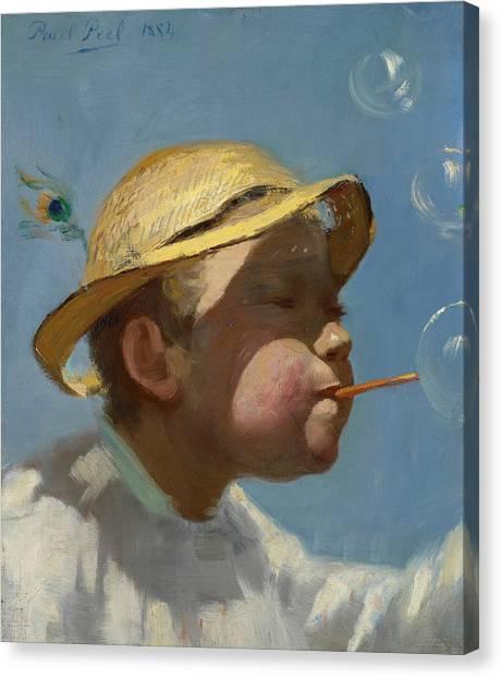 Peel Canvas Print - The Bubble Boy by Paul Peel