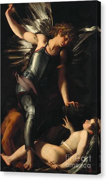 Chiaroscuro Canvas Print - The Divine Eros Defeats The Earthly Eros by Giovanni Baglione