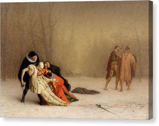Honor Canvas Print - The Duel After The Masquerade by Jean-Leon Gerome