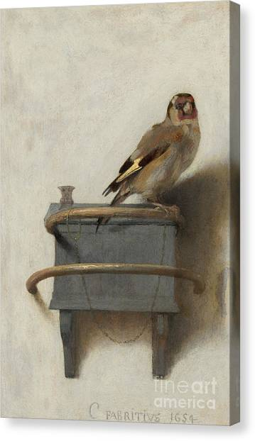 Avian Canvas Print - The Goldfinch by Carel Fabritius