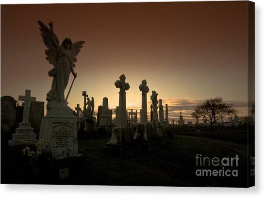 The Graveyard Canvas Print by Angel Ciesniarska