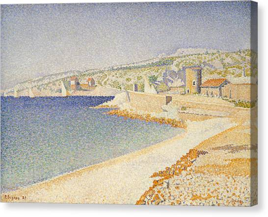 Divisionism Canvas Print - The Jetty At Cassis, Opus 198 by Paul Signac
