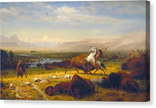 Carcass Canvas Print - The Last Of The Buffalo by Albert Bierstadt