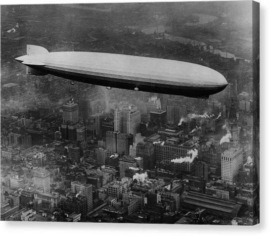 Blimps Canvas Print - The Lz 129 Graf Zeppelin by Everett