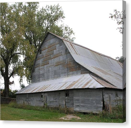 The Old Barn Canvas Print by Janis Beauchamp