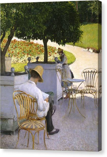 Orange Tree Canvas Print - The Orange Trees by Gustave Caillebotte