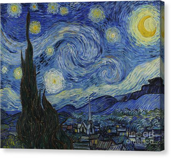 The Sky Canvas Print - The Starry Night by Vincent Van Gogh