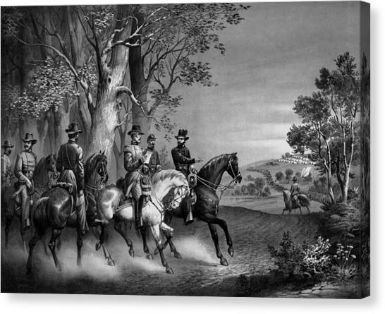 War Horse Canvas Print - The Surrender Of General Lee by War Is Hell Store