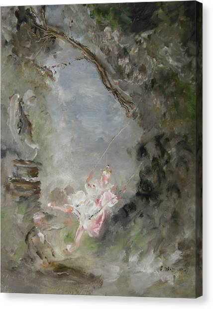 The Swing Canvas Print by Edward Wolverton