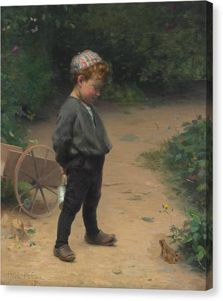 Peel Canvas Print - The Young Biologist by Paul Peel