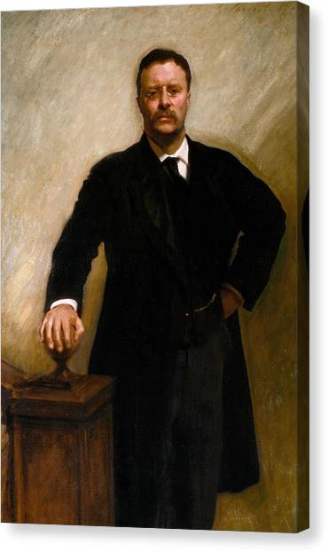 Theodore Roosevelt Canvas Print - Theodore Roosevelt by John Singer Sargent