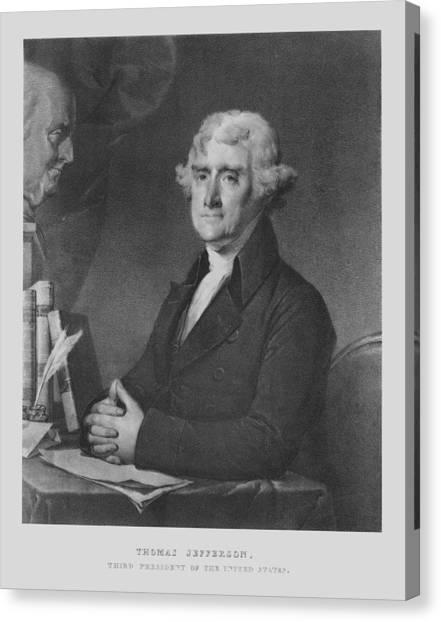 President Jefferson Canvas Print - Thomas Jefferson by War Is Hell Store