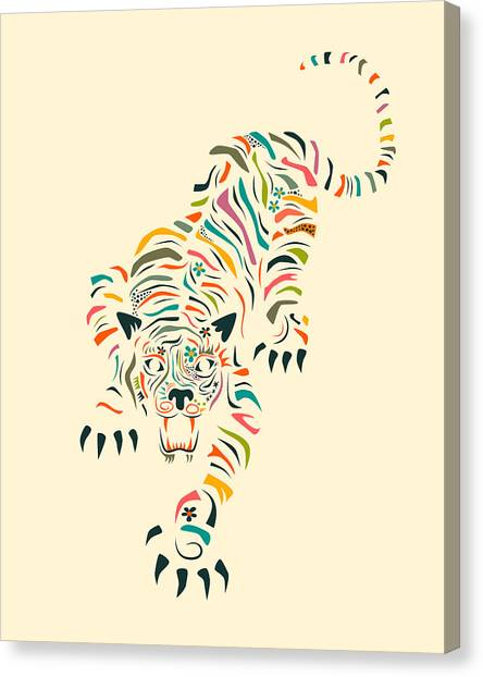 Tiger Canvas Print - Tiger by Jazzberry Blue