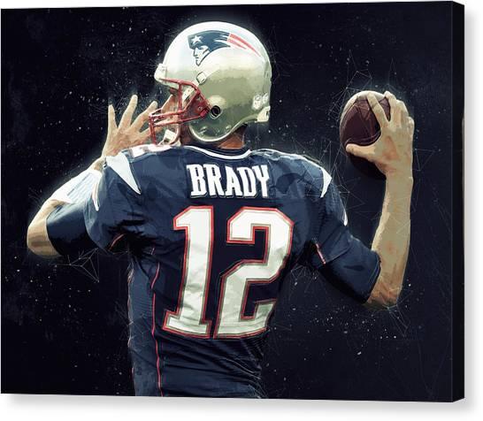 Matt Ryan Canvas Print - Tom Brady by Semih Yurdabak
