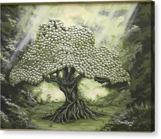 Tree Of Skulls Canvas Print by Eric Barich