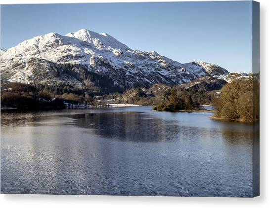 Trossachs Scenery In Scotland Canvas Print